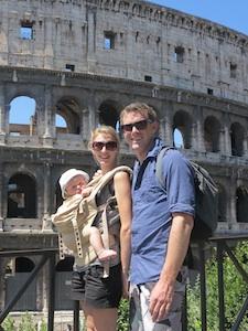Паула и Маркус вместе с сыном в Риме