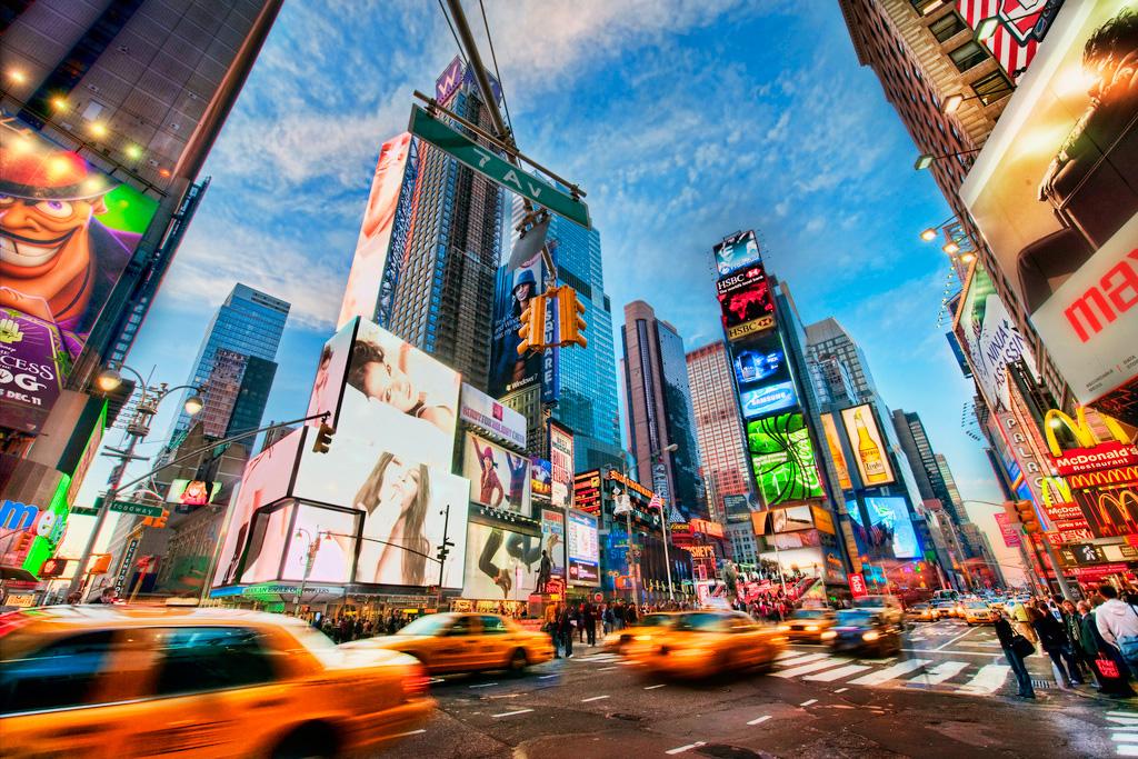 Улицы Нью-Йорка, США