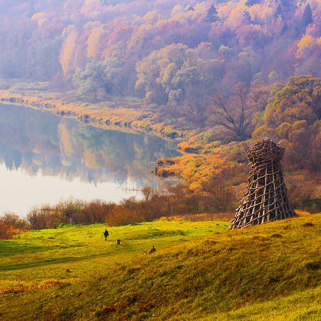 Осенний пейзаж, Никола-Ленивец, Россия