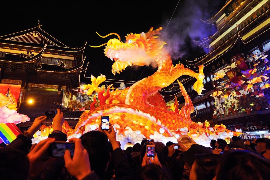 Парад драконов, китайский Новый год