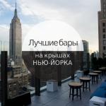 Лучшие бары на крышах Нью-Йорка