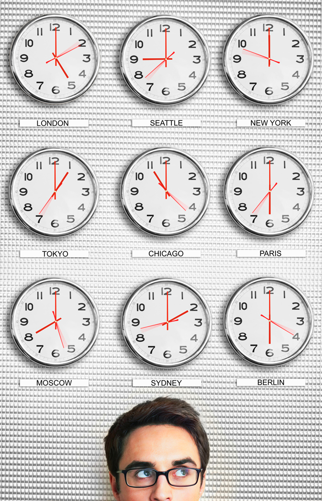 Разные часовые пояса
