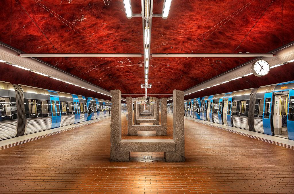 Метро в Стокгольме