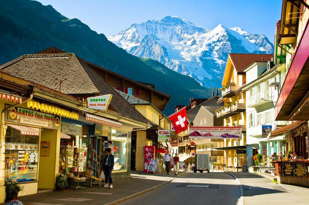 Деревня Венген, Швейцария