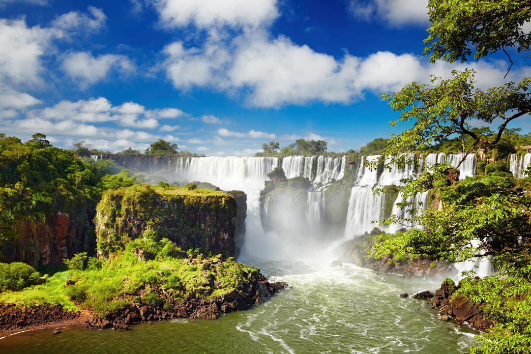 Iguazu Falls on the Brazilian and Argentine border