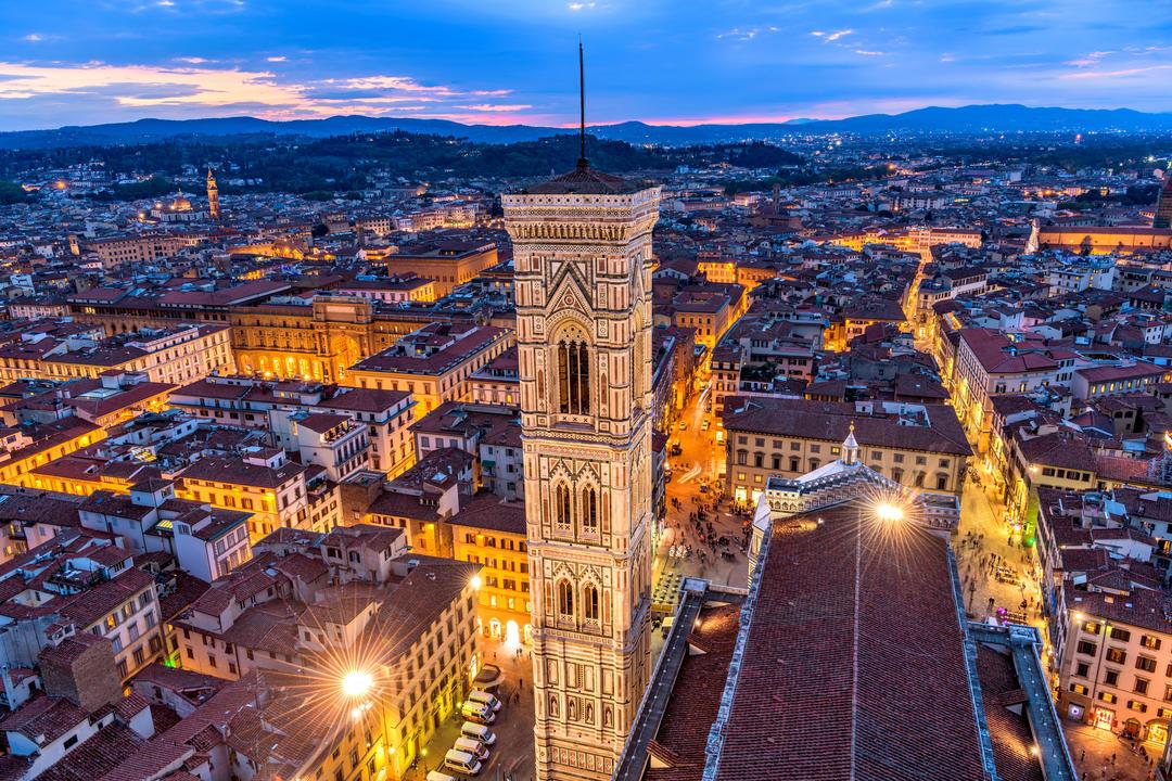 Кампанила Джотто во Флоренции - самом красивом городе в мире