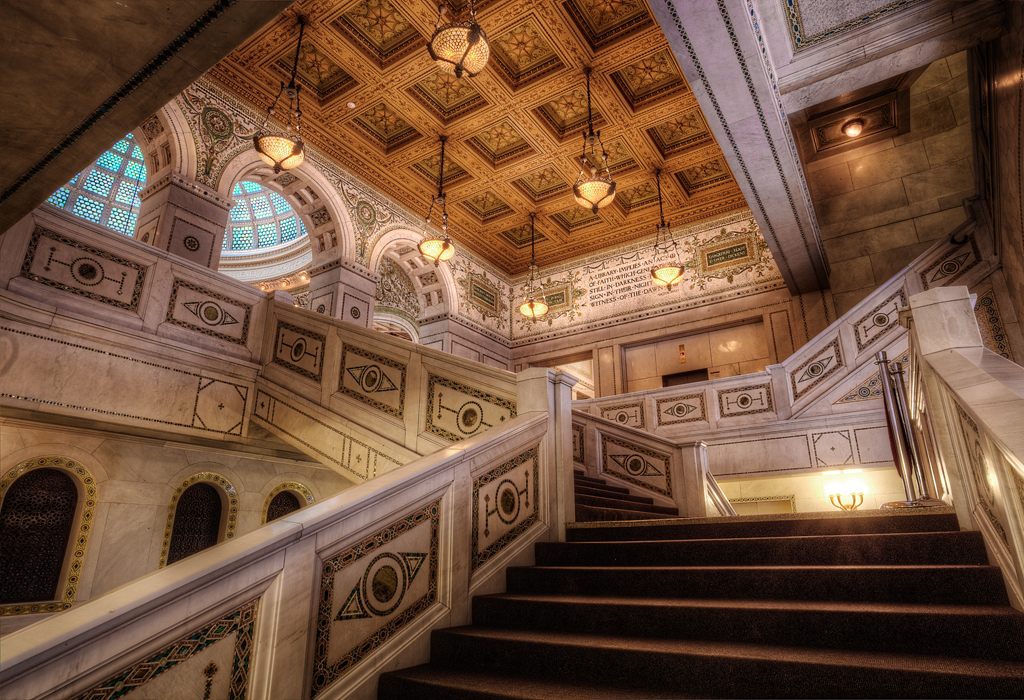 Чикагский культурный центр, лестница