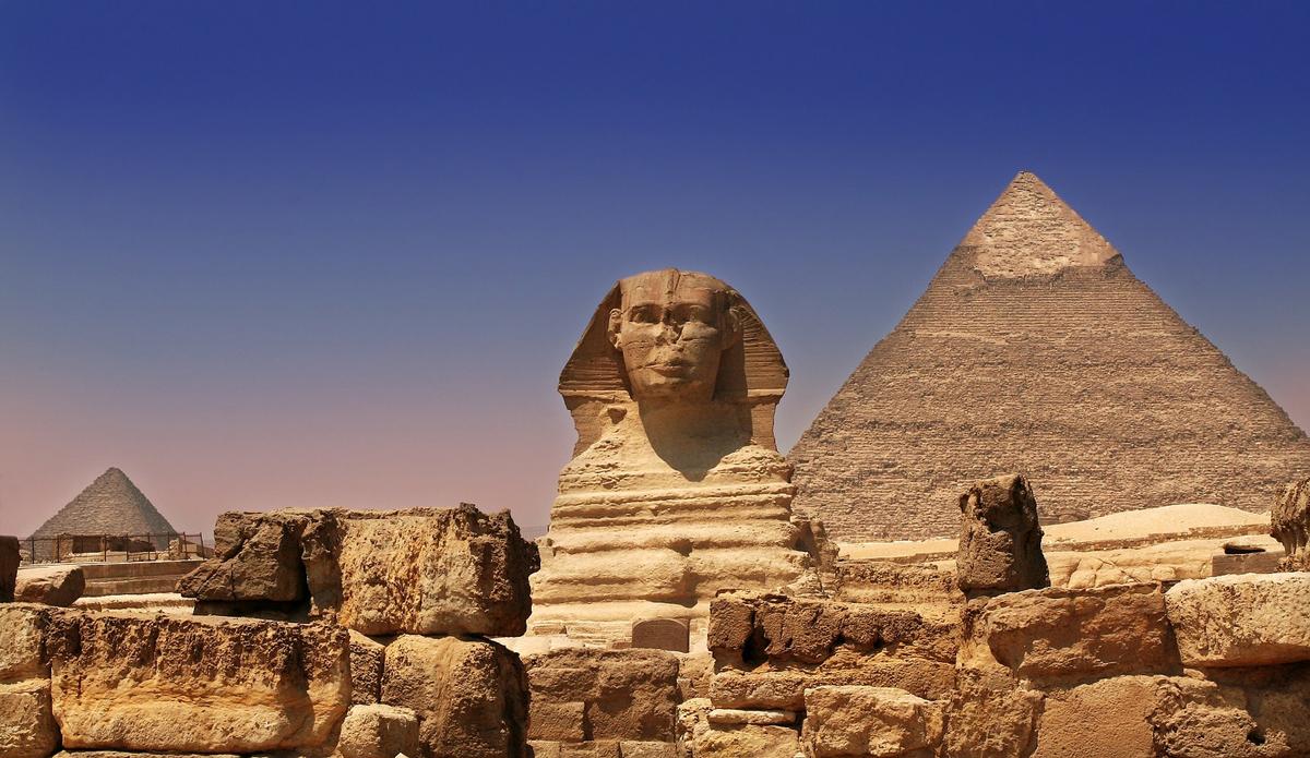 Пирамида Хеопса и Большой Сфинкс