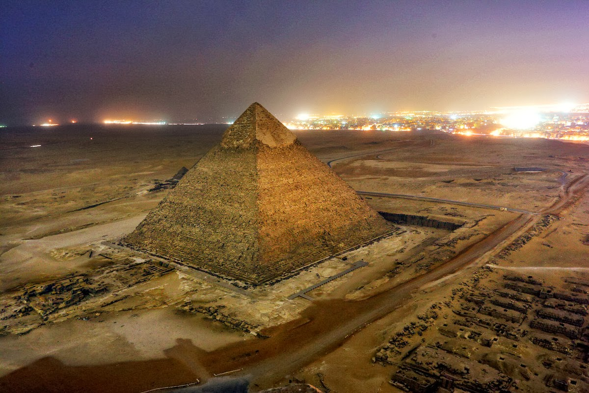 Пирамида Хеопса_вид на город Каир