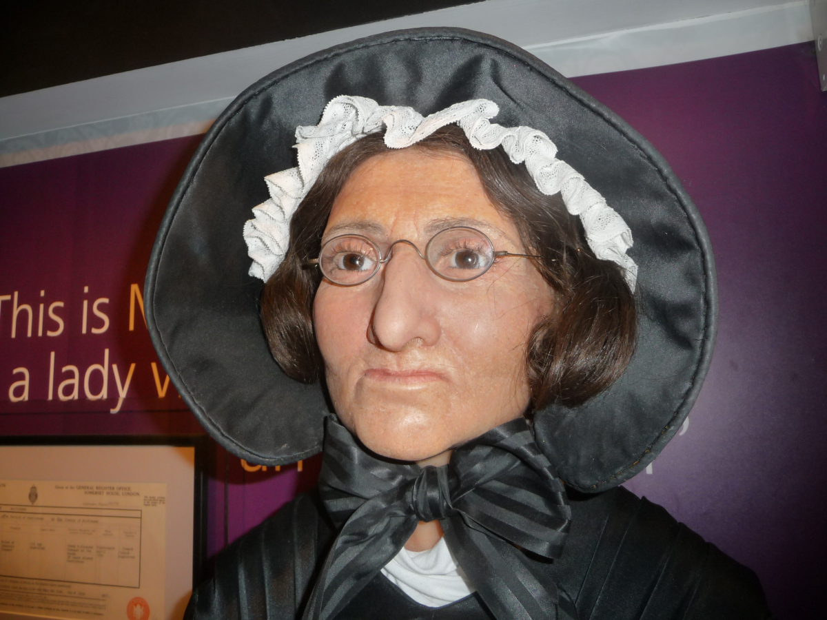 Wax sculpture of Mary Tussauds in London