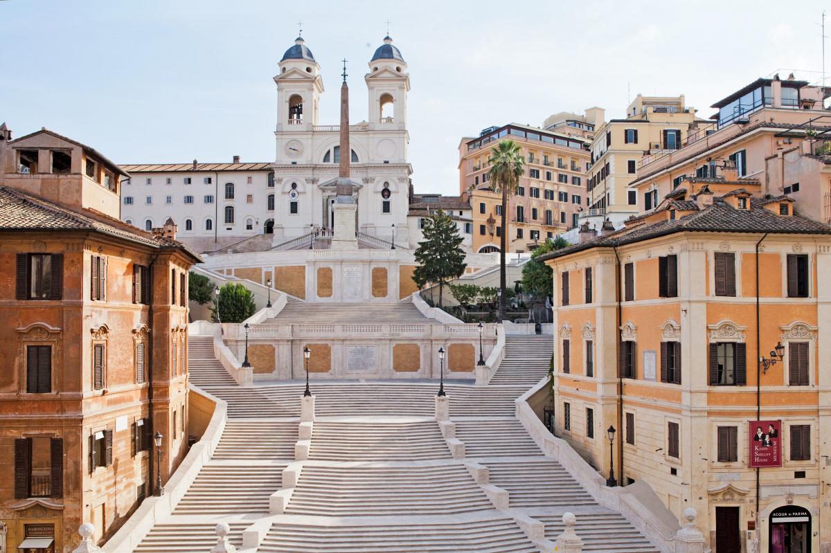Испанская лестница после реставрации