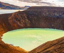 Вулканическое озеро Эскьюван