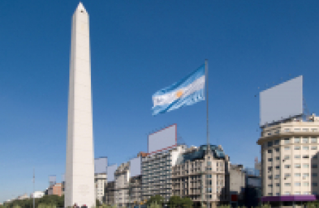 Обелиск в Буэнос-Айрес фото