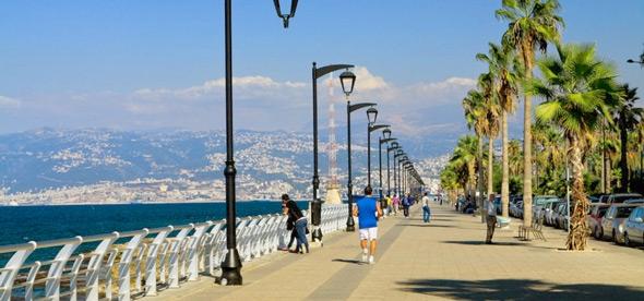 Набережной Корниш в Бейруте