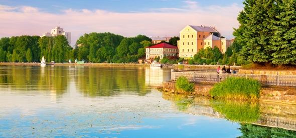 Старинный Тернопольский замок