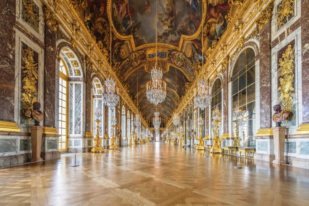 Версальский дворец Зеркальная галерея